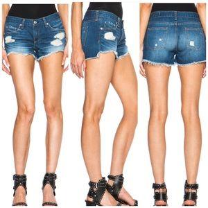 Rag & Bone •Distressed Freeport Cutoff Jean Shorts